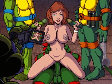 1591436 - April_O\'Neil Donatello IKUGames Leonardo Michelangelo Raphael Teenage_Mutant_Ninja_Turtles animated.gif