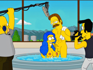 Marge Simpson Homer Simpson Ned Flanders Rev Lovejoy Jessie Lovejoy Nikki Wong Amy Lisa Simpson 1560120 - Guido_L Homer_Simpson Marge_Simpson Ned_Flanders The_Simpsons Timothy_Lovejoy animated.gif