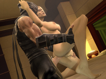 Sonya Blade 1305779 - Mortal_Kombat Ninja_Gaiden Ryu_Hayabusa Sonya_Blade animated beowulf1117 crossover source_filmmaker.gif