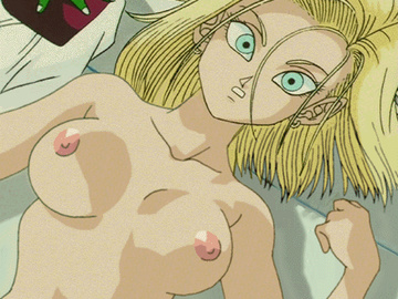 Android 18 Videl 18068 - Android_18 Dende Dragon_Ball_Z animated roceada.gif