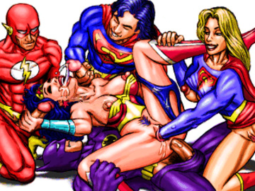 Wonder woman 61148 - Batman Batman_Family Bruce_Wayne Clark_Kent DC Flash Justice_League Supergirl Superman Wonder_Woman animated sensei.gif