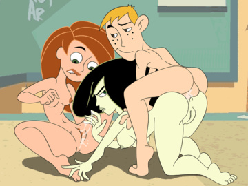 Kim Possible Shego Ron Stoppable 846118975.gif