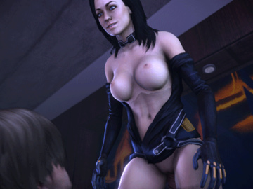 1720029 - DominotheCat Leon_Kennedy Mass_Effect Miranda_Lawson Resident_Evil animated crossover source_filmmaker.gif