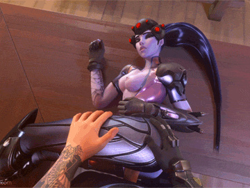 Federline 1743487 - Hanzo_Shimada Overwatch Widowmaker animated ellowas.gif
