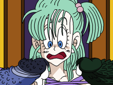 Bulma Kid Buu Cell Android 18 Videl 1471071 - Bulma_Briefs Dboy Dragon_Ball animated.gif