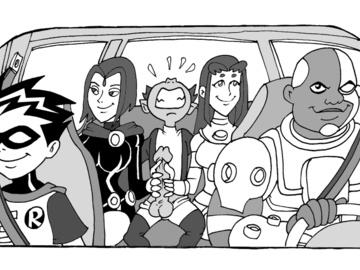 346487 - Beast_Boy Cyborg DC DCAU Raven Robin Starfire Teen_Titans Vicente animated.gif
