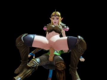 Princess Zelda 1698798 - Hyrule_Warriors Legend_of_Zelda Link Princess_Zelda animated comissair.gif