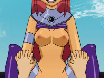Starfire Jinx Raven Beast boy  Robin Akane Tendo 1477346 - DC DCAU Starfire Teen_Titans animated sijix slappyfrog.gif