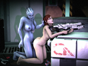 1077620 - Asari Commander_Shepard Doctor_Pop FemShep Liara_T'Soni Mass_Effect animated.gif
