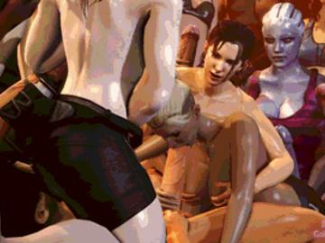 1745757 - Asari Cassie_Cage Left_4_Dead Liara_T'Soni Mass_Effect Mortal_Kombat Zoey animated bigjohnson crossover.gif