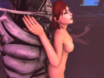 1287432 - Commander_Shepard FemShep Mass_Effect Turian animated em805 saren_arterius source_filmmaker.gif