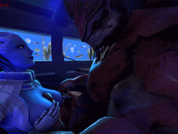 1429111 - Asari Beastlyjoe Liara_T'Soni Mass_Effect Wrex animated krogan source_filmmaker.gif