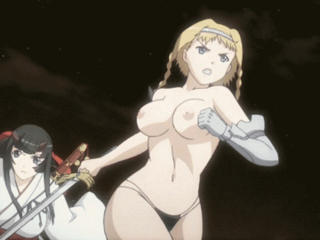 Cattleya Yumil (Ymir) Melona Airi queens_blade_hentai_gif_girl_with_sword_running_topless_boobs_bouncing.gif