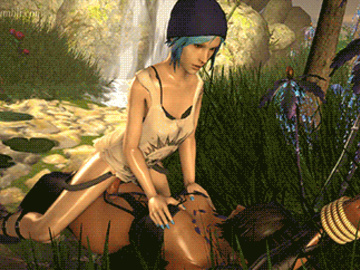 Chloe Price 1646423 - Chloe_Price Final_Fantasy_X Life_is_Strange Lulu Metssfm animated crossover source_filmmaker.gif
