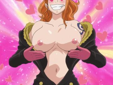 Nami Niko Robin Boa Hancock Domino Vivi Nefertari Franky 1078451 - Nami One_Piece animated gnz.gif