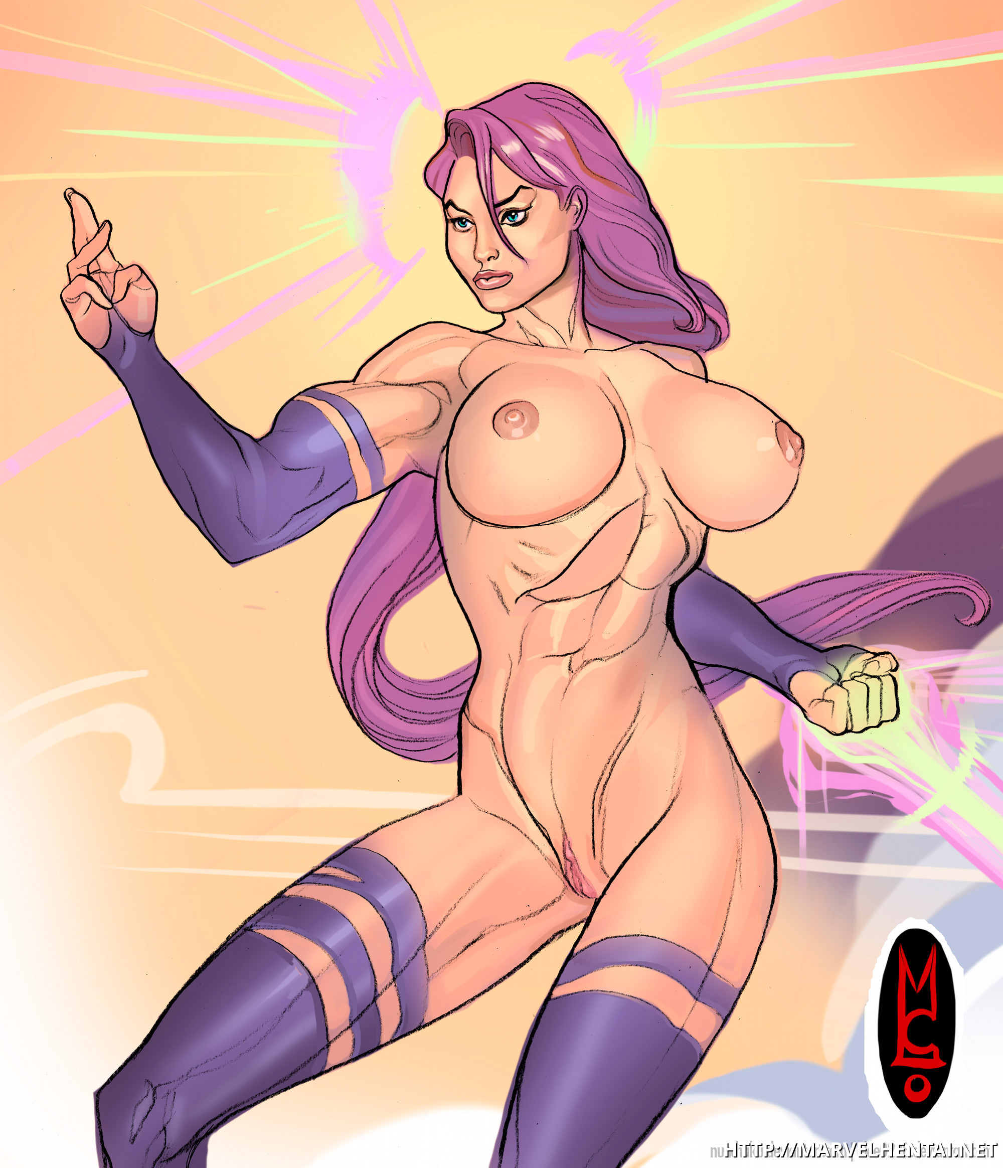 Fabulous nymph Psylocke has some astonishing assets!